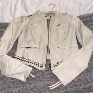 Faux leather free people jacket